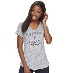 Women's Apt. 9® Graphic V-Neck Tee