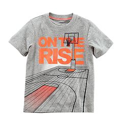 Baby Boy Carter's 'On The Rise' Basketball Court Graphic Tee