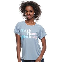 Juniors' 'Part Time Mermaid' Graphic Tee