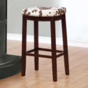 Linon Faux Cow Print Allure Bar Stool