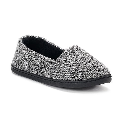 ab65713f6e3cfe Women s isotoner Andrea Space-Knit A-Line Slippers