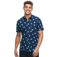 Men's Pokemon Bulbasaur Button-Down Shirt