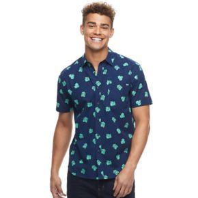 Men's Pokemon Bulbasaur Button-Down Shirt