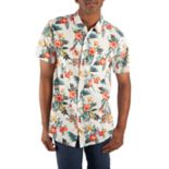 Men's Batman Floral Button-Down Shirt