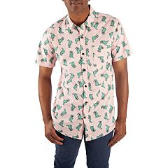 Men's Dinosaur Button-Down Shirt