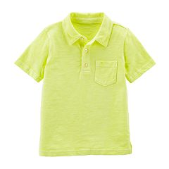 Toddler Boy Carter's Yellow Slubbed Polo Shirt