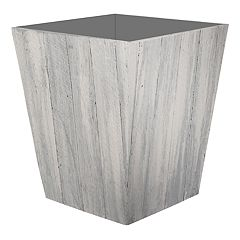 Suncast White Washed Faux-Wood Square Planter