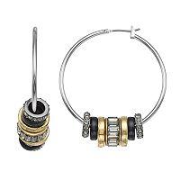 Simply Vera Vera Wang Two Tone Rondelle Nickel Free Hoop Earrings