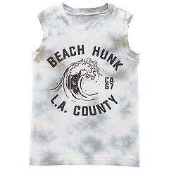 Toddler Boy Carter's 'Beach Hunk L.A. County' Tank Top