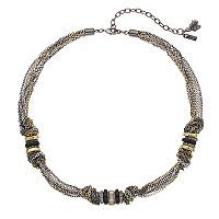 Simply Vera Vera Wang Tri Tone Knotted Multi Strand Necklace