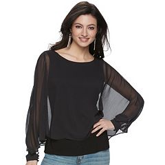 Women's Jennifer Lopez Chiffon Popover Top