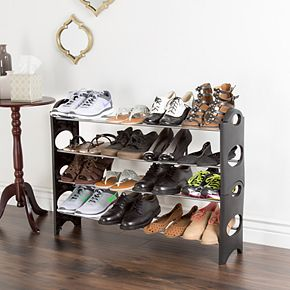 Portsmouth Home 4-Tier Stackable Shoe Rack