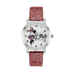 Disney's Minnie Mouse 'Bows are Always a Good Idea' Women's Leather Watch