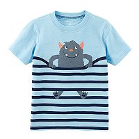 Toddler Boy Carter's Striped Monster Tee