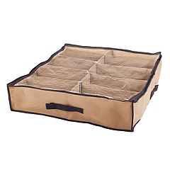 Portsmouth Home Stow-Away Underbed Shoe Storage Solution