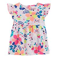 Toddler Girl Carter's Floral Pom-Trim Top