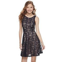 Juniors' Speechless Lace Skater Dress