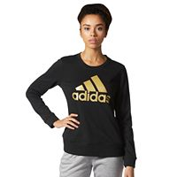 Women's adidas Logo Crewneck Fleece Sweatshirt