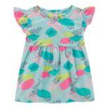 Toddler Girl Carter's Splatter Pom-Trim Top