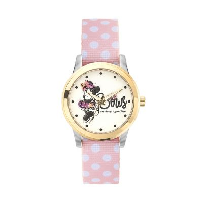 "Disney's Minnie Mouse ""Bows are Always a Good Idea"" Women's Reversible Strap Watch"
