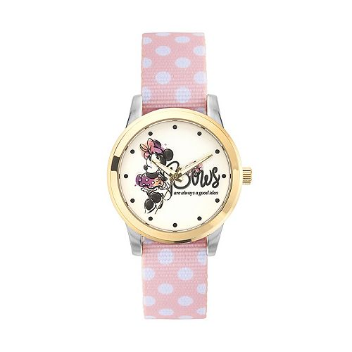 """Disney's Minnie Mouse """"Bows are Always a Good Idea"""" Women's Reversible Strap Watch"""