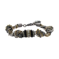 Simply Vera Vera Wang Tri Tone Knotted Chain Bracelet