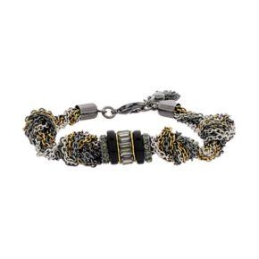 Simply Vera Vera Wang Tri Tone Knotted Chain Bracelet