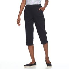 Women's Croft & Barrow® Pull On Lace-Up Hem Capris
