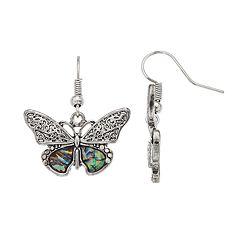 Believe In Butterfly Nickel Free Drop Earrings