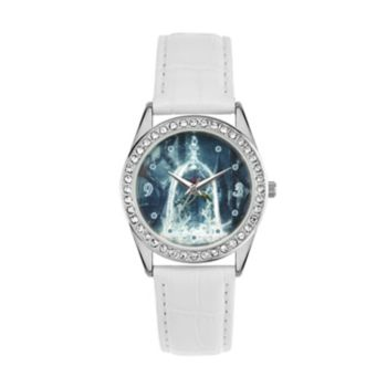 Disney's Beauty and the Beast Enchanted Rose Women's Crystal Leather Watch