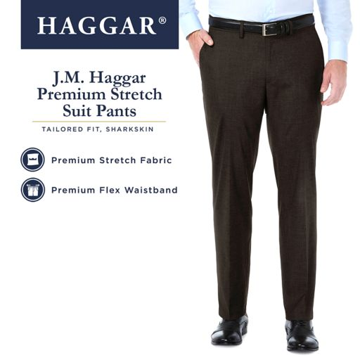 Men's J.M. Haggar Premium Tailored-Fit Stretch  Flat-Front Suit Pants