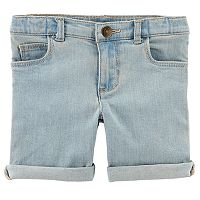 Toddler Girl Carter's Rolled-Cuff Midi Denim Shorts