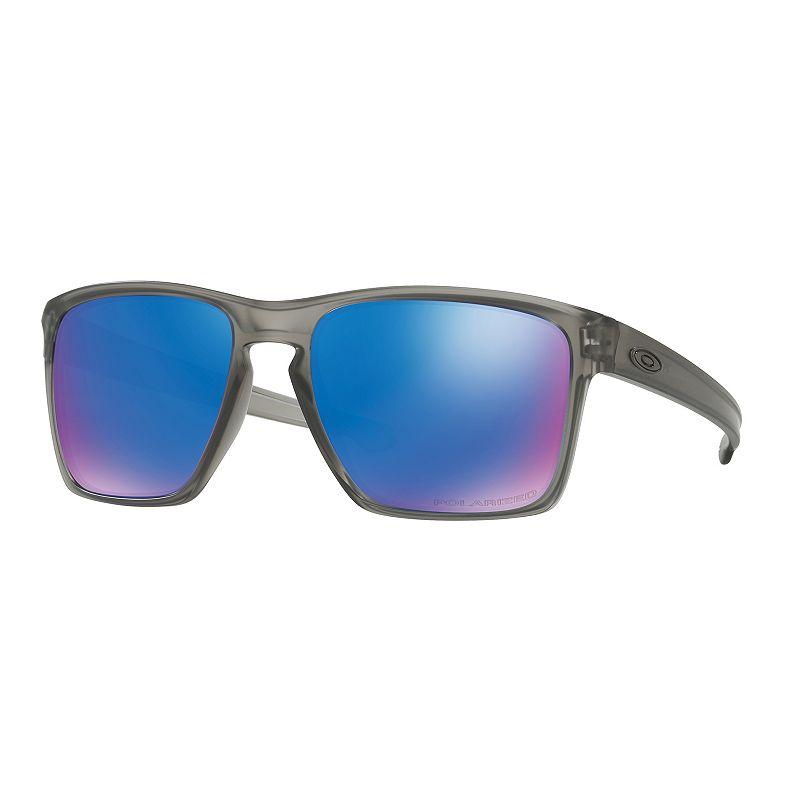 Oakley Sliver XL OO9341 57mm Rectangle Sapphire Iridium Mirror Polarized  Sunglasses 362f3d7317