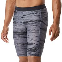 Men's Speedo Halftone Tide Jammer Fitness Long Swim Shorts