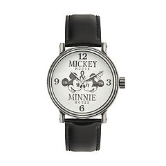 Disney's Mickey Mouse & Minnie Mouse '1928' Men's Leather Watch