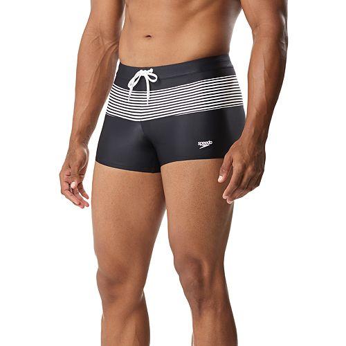 812e37ef330a0 Men s Speedo Striped Square-Leg Hybrid Fitness Swim Shorts