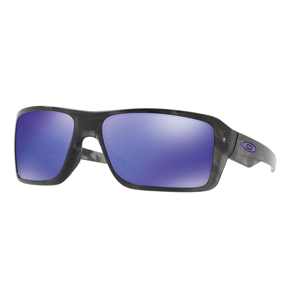 3986446f0f Oakley Double Edge OO9380 66mm Rectangle Violet Iridium Mirror Sunglasses