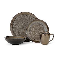 Gourmet Basics Reed Gray 16-pc. Dinnerware Set