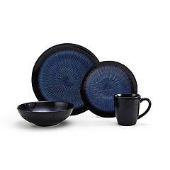 Gourmet Basics Reed Teal Metal 16-pc. Dinnerware Set