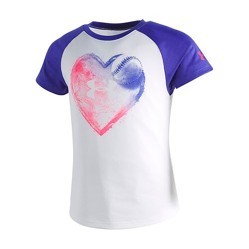 Girls 4-6x Under Armour Home Plate Heart Graphic Tee