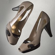 Simply Vera Vera Wang Obvious Peep-Toe Heels :  peep-toe heels simply toe lether