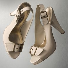 Simply Vera Vera Wang Exposed Slingback Heels :  peep faux-leather vera shoes