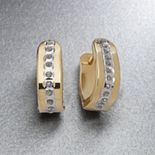 Diamond Fascination® 14k Gold Hoop Earrings