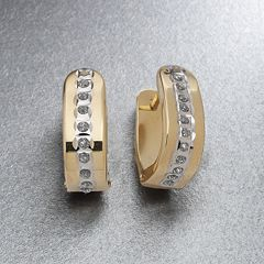 Diamond Fascination® 14k Gold Hoop Earrings