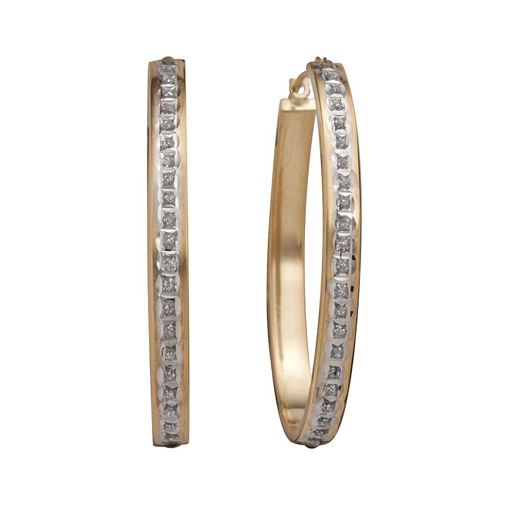 Diamond Fascination® 14k Gold Diamond Accent Hoop Earrings
