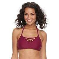 Mix and Match Lace-Up Halter Bikini Top