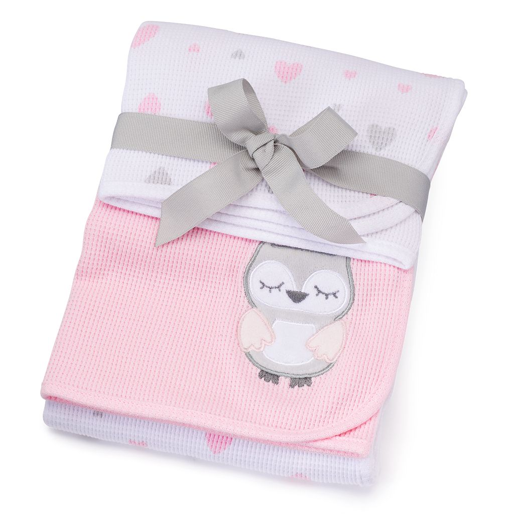 Just Born 2-pk. Animal & Heart Receiving Blankets