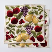 Kitchen Elements Antique Fruit Dishcloth Set