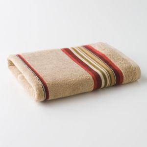 Madison Red Striped Bath Towel