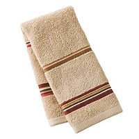 Madison Red Striped Fingertip Towel